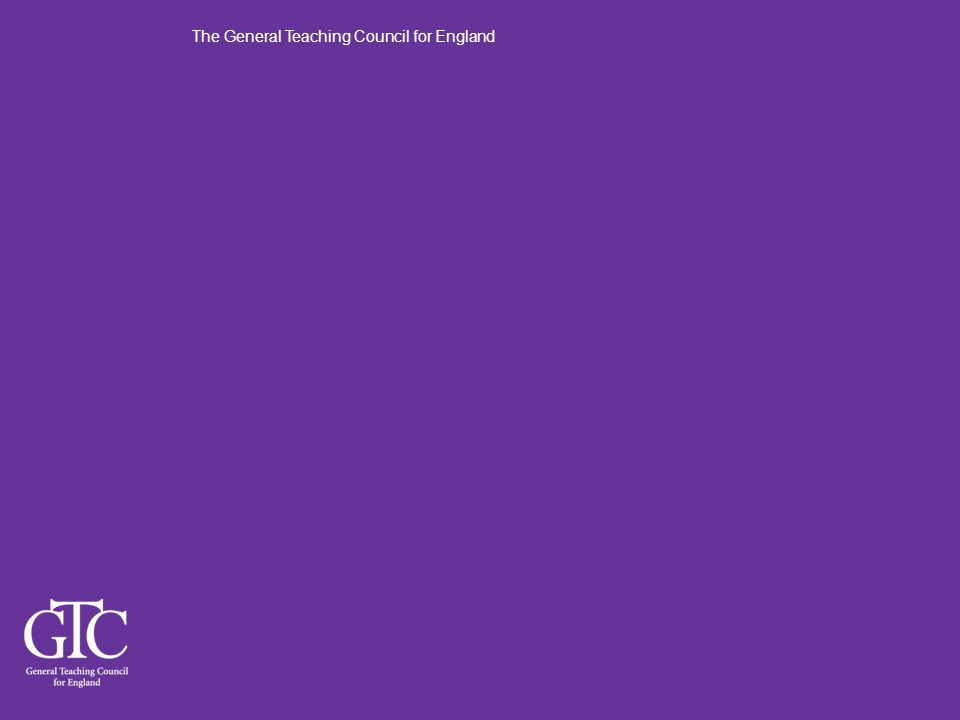The General Teaching Council for England