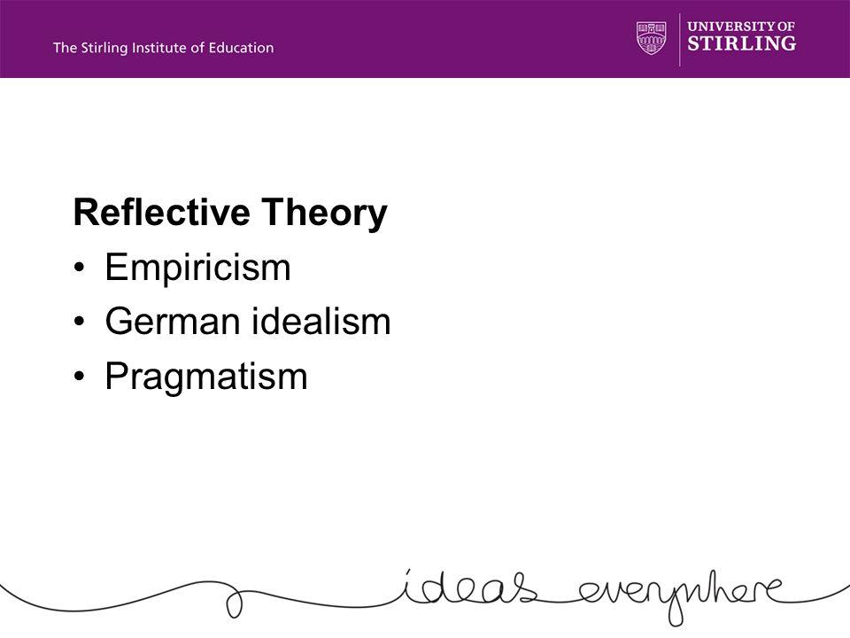 Reflective Theory Empiricism German idealism Pragmatism