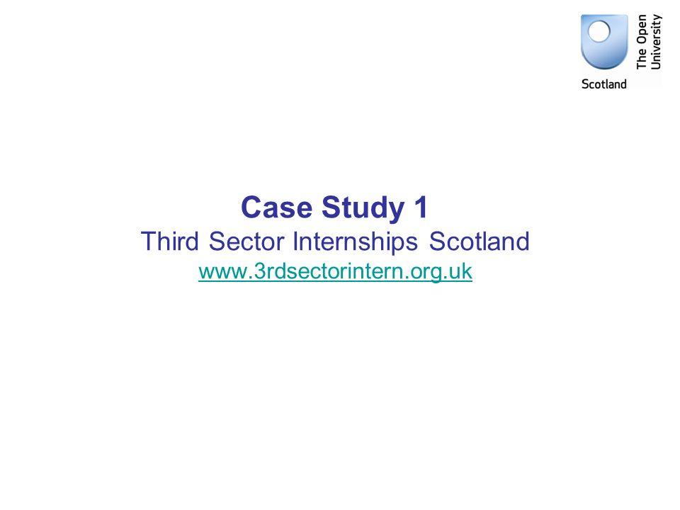 Case Study 1 Third Sector Internships Scotland www.3rdsectorintern.org.uk www.3rdsectorintern.org.uk