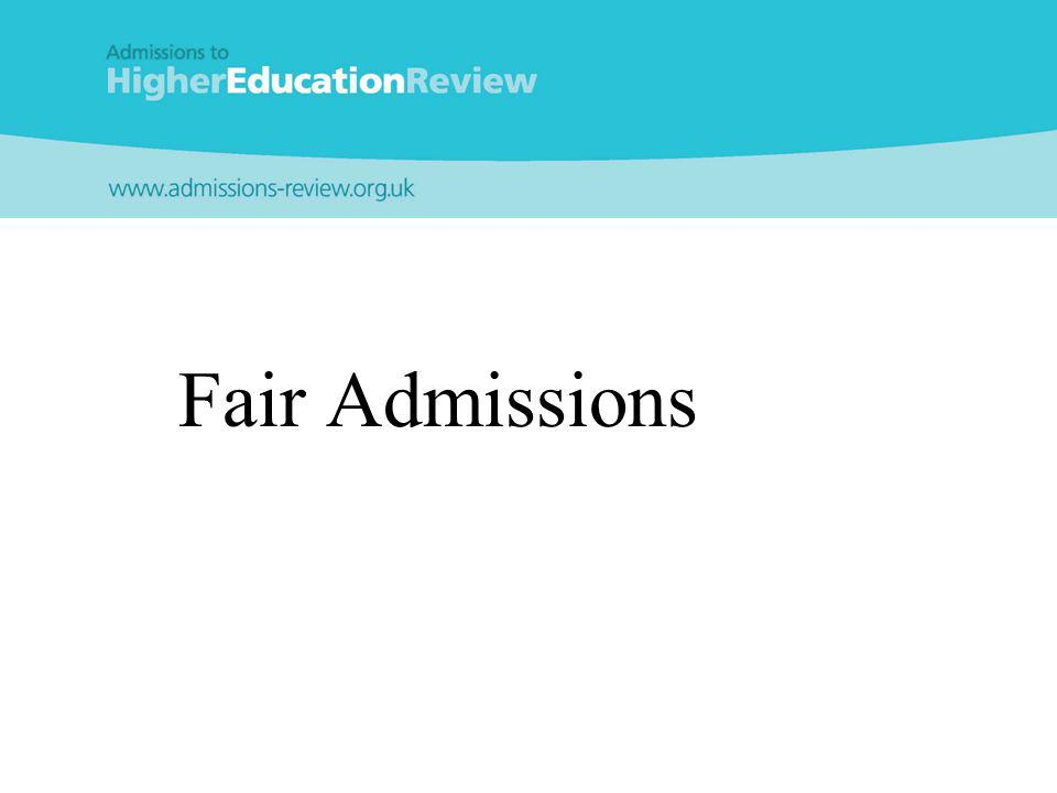 Fair Admissions