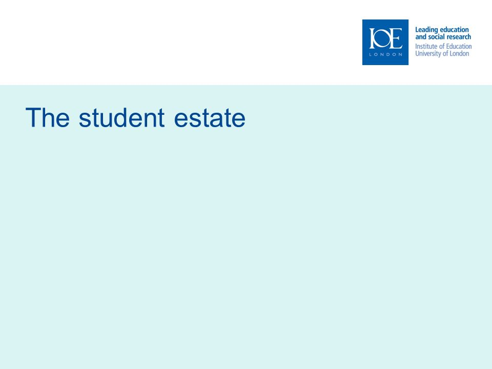The student estate