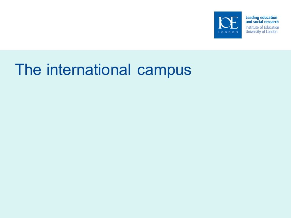 The international campus