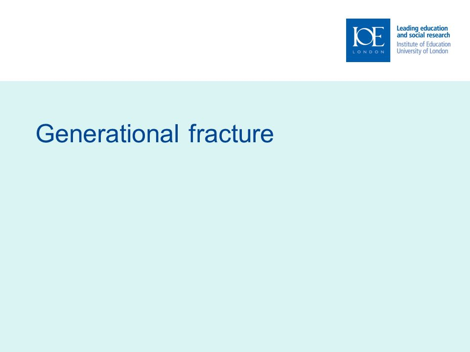 Generational fracture
