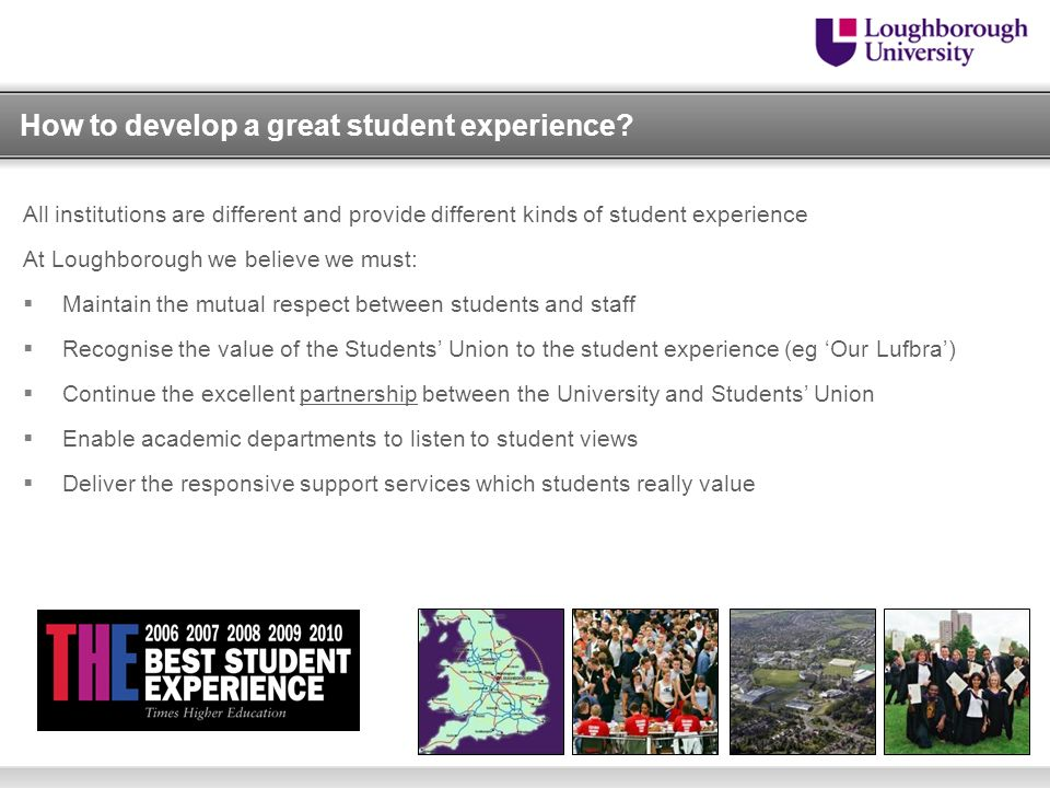 How to develop a great student experience.
