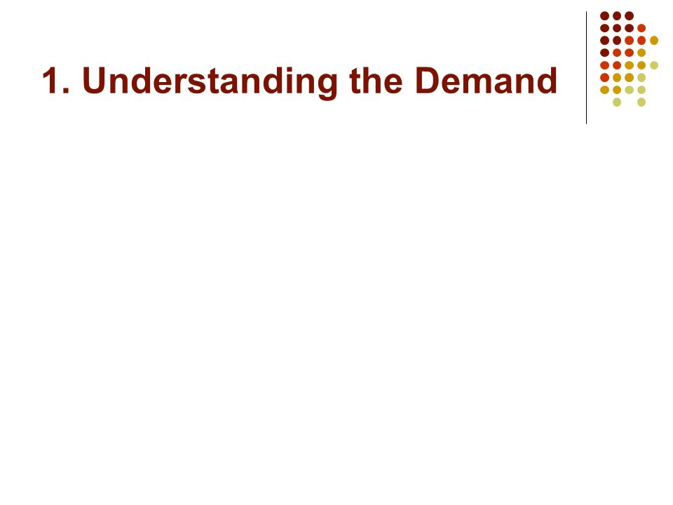1. Understanding the Demand