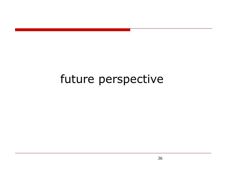 36 future perspective 36