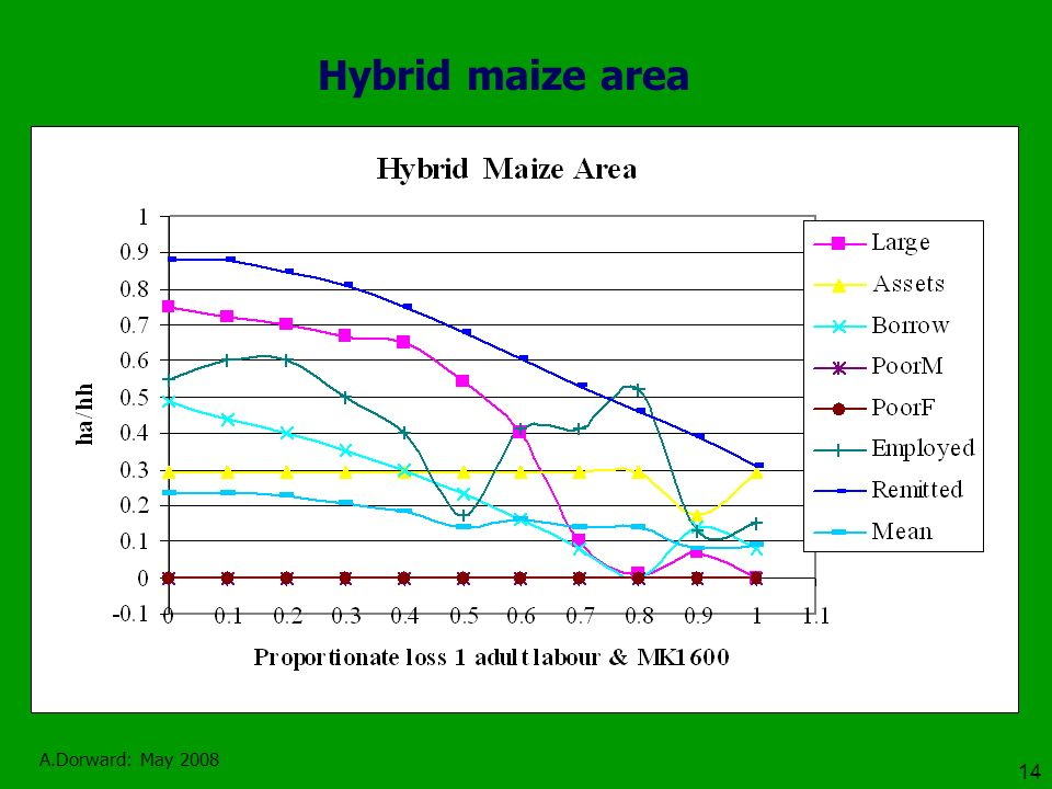 A.Dorward: May 2008 14 Hybrid maize area