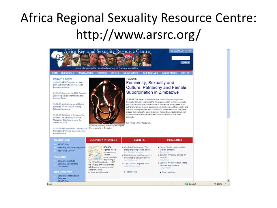Africa Regional Sexuality Resource Centre: http://www.arsrc.org/