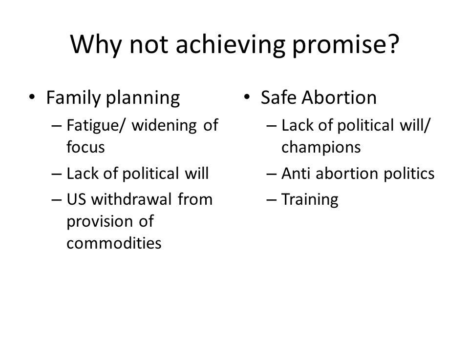 Why not achieving promise.