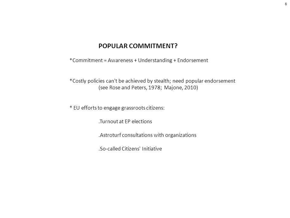 POPULAR COMMITMENT.