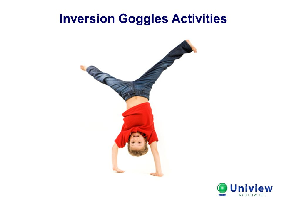 Inversion Goggles Activities Title
