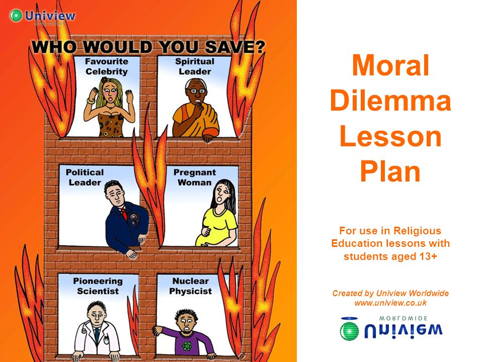 Moral Dilemma Lesson Plan For use in Religious Education lessons with students aged 13+ Created by Uniview Worldwide www.uniview.co.uk