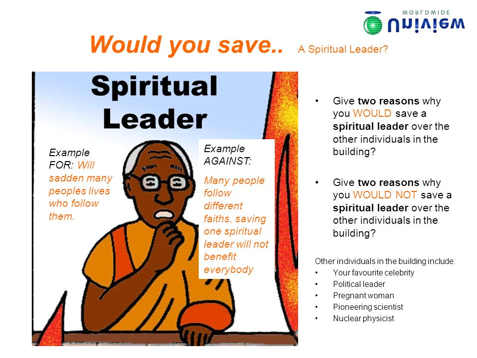 Would you save..A Political Leader.