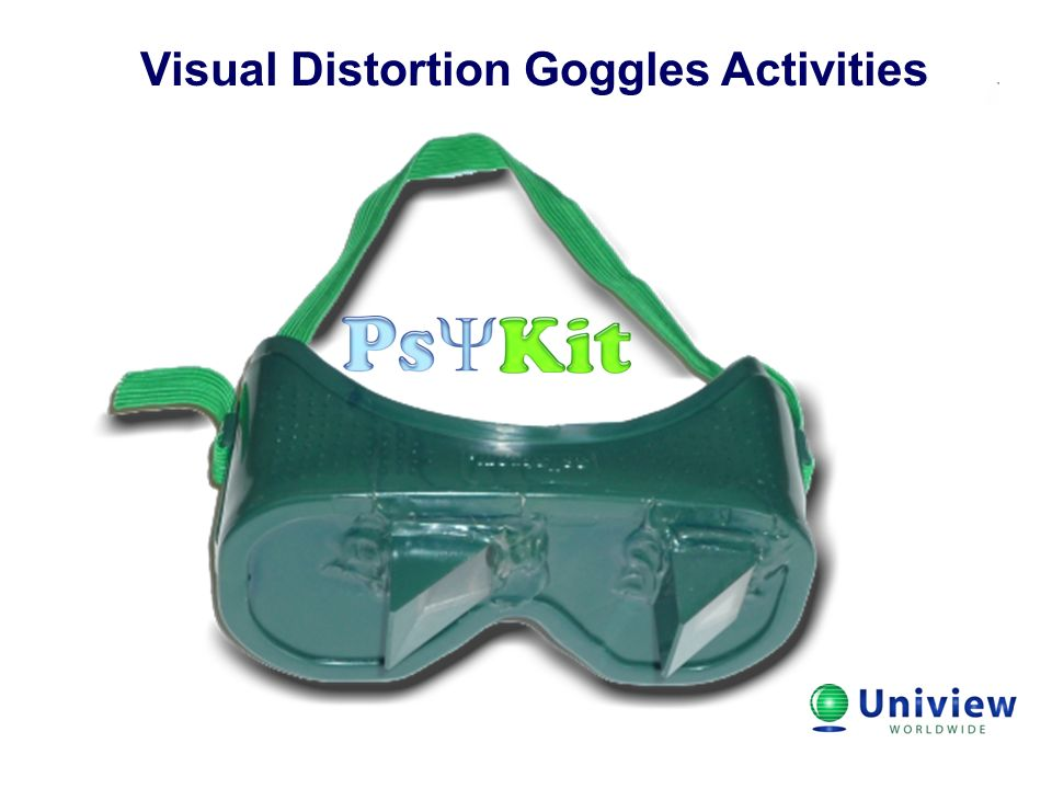 Visual Distortion Goggles Activities Title