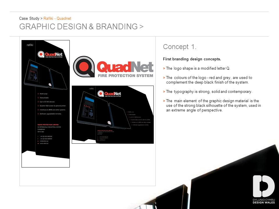 Case Study > Rafiki - Quadnet GRAPHIC DESIGN & BRANDING > Concept 1. First branding design concepts. >The logo shape is a modified letter Q. > The col