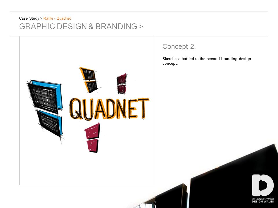 Case Study > Rafiki - Quadnet GRAPHIC DESIGN & BRANDING > Concept 2. Sketches that led to the second branding design concept.