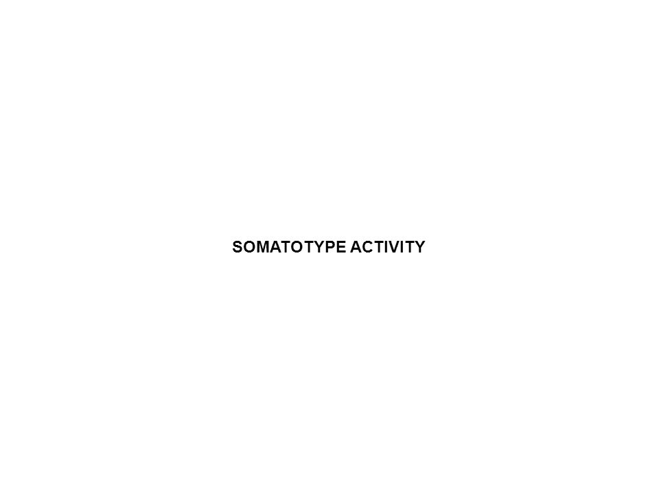 SOMATOTYPE ACTIVITY