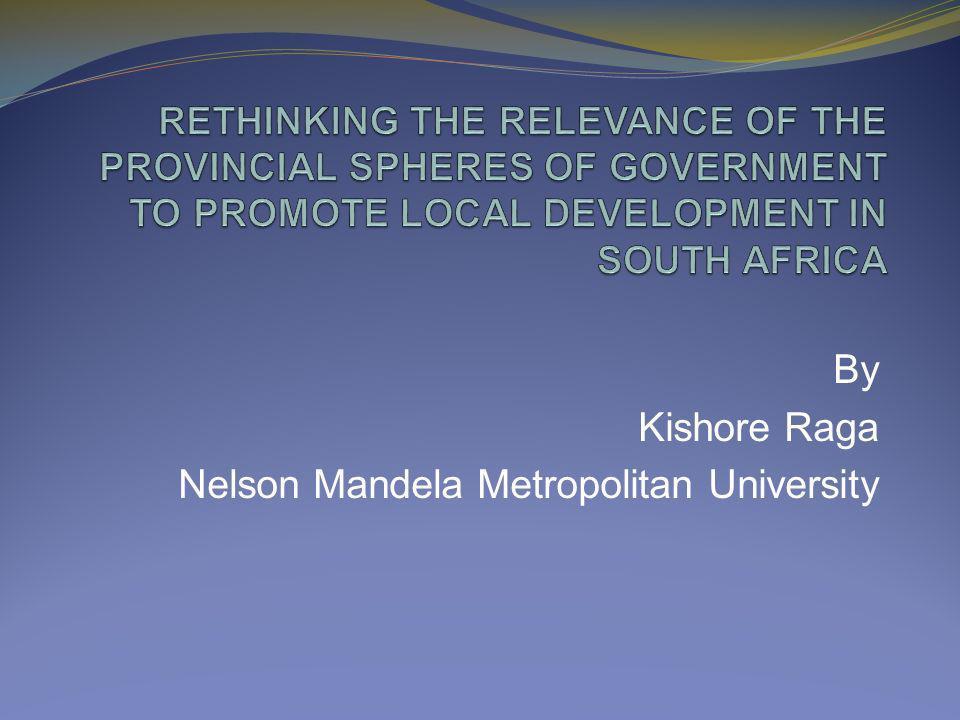 By Kishore Raga Nelson Mandela Metropolitan University