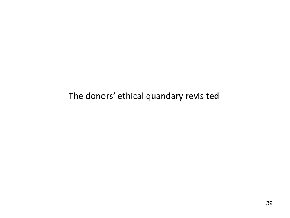 39 The donors ethical quandary revisited