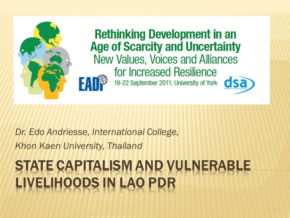 Dr. Edo Andriesse, International College, Khon Kaen University, Thailand