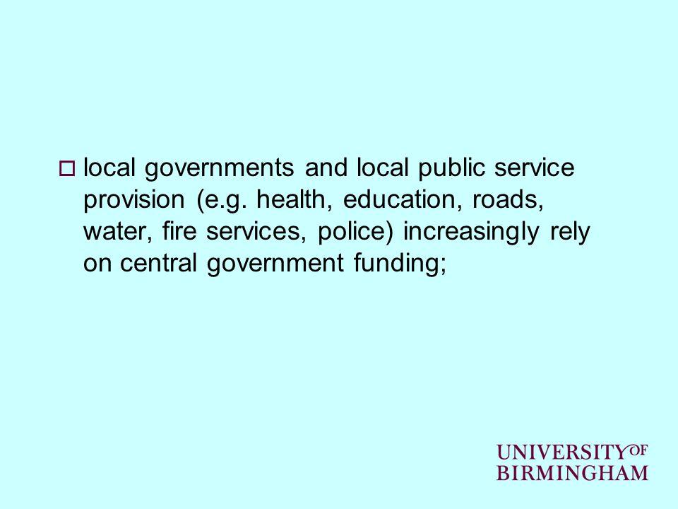 local governments and local public service provision (e.g.