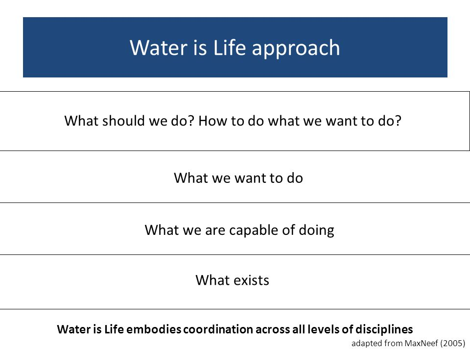 Water is Life embodies coordination across all levels of disciplines produce sound and societally relevant research through active collaboration capac