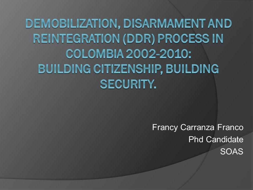 Francy Carranza Franco Phd Candidate SOAS