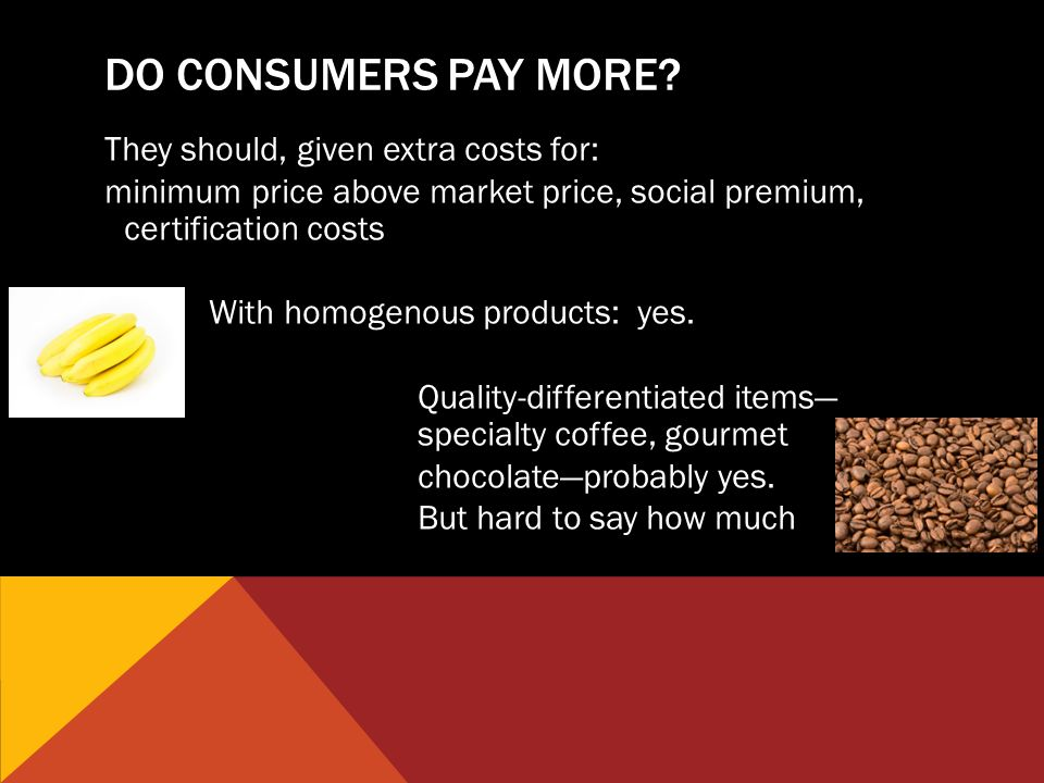 DO CONSUMERS PAY MORE.