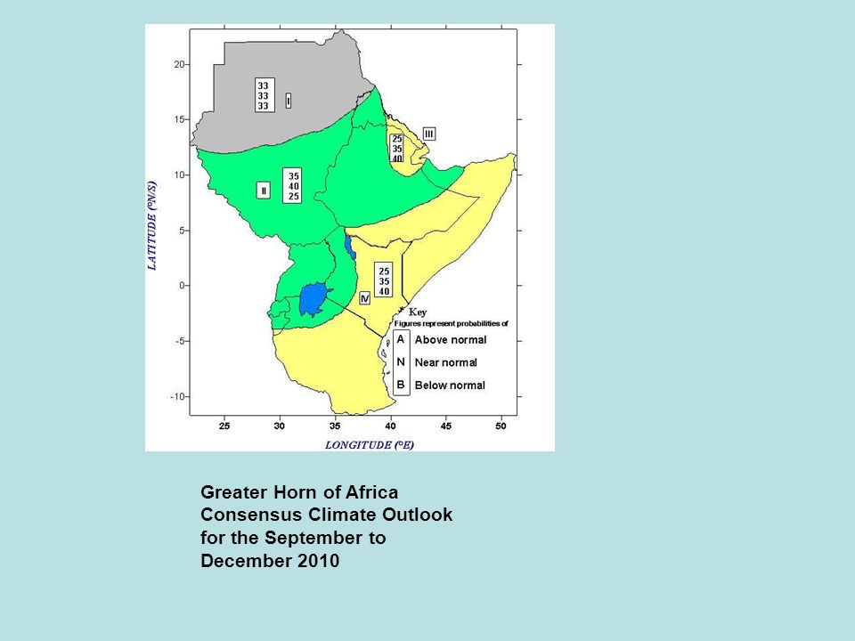 Greater Horn of Africa Consensus Climate Outlook for the September to December 2010