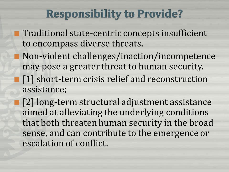 Traditional state-centric concepts insufficient to encompass diverse threats.