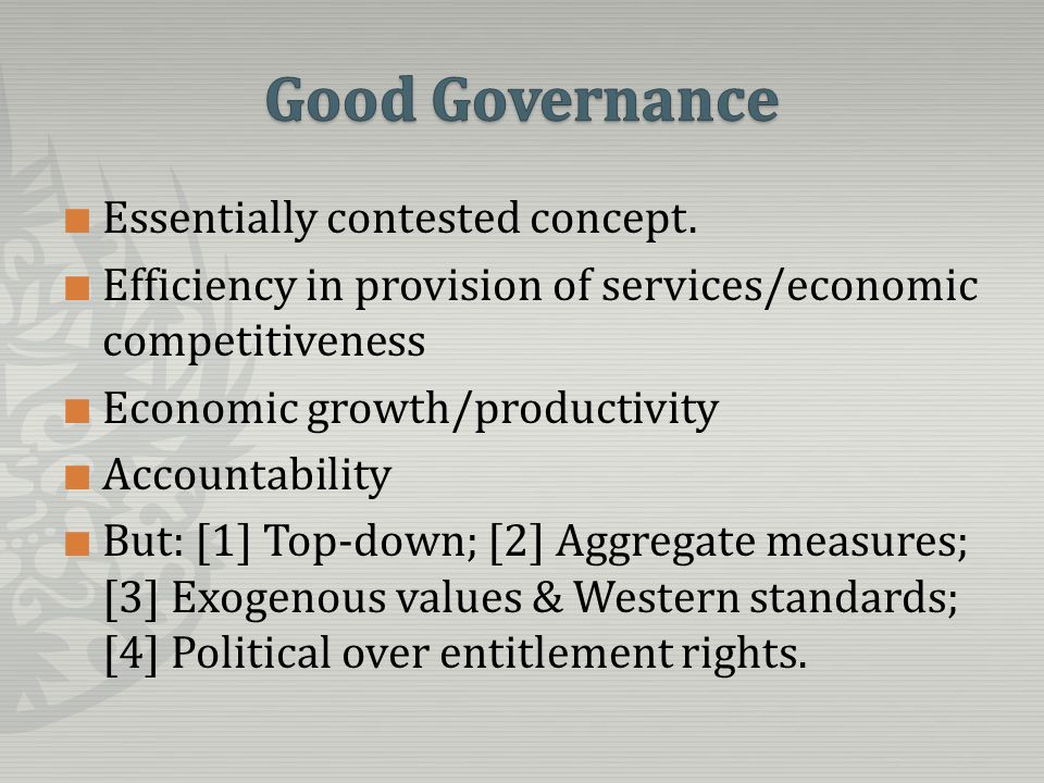 Governance and violent conflict are intimately related with most occurrences of the latter being caused and sparked off by failures in the former.