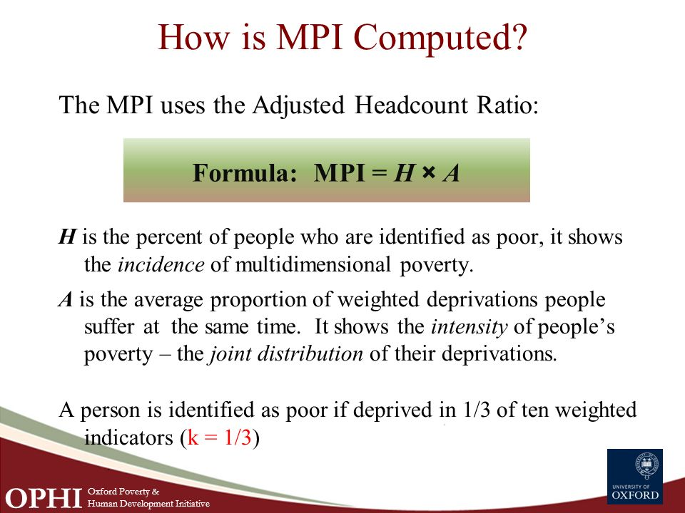 How is MPI Computed.