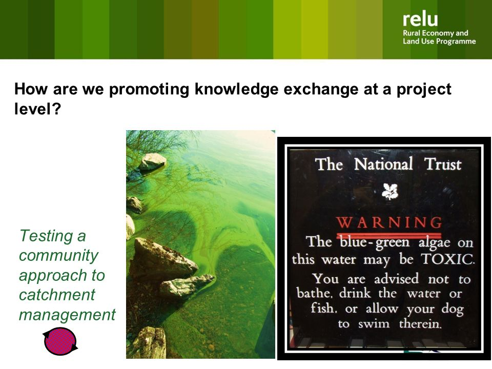 Testing a community approach to catchment management How are we promoting knowledge exchange at a project level