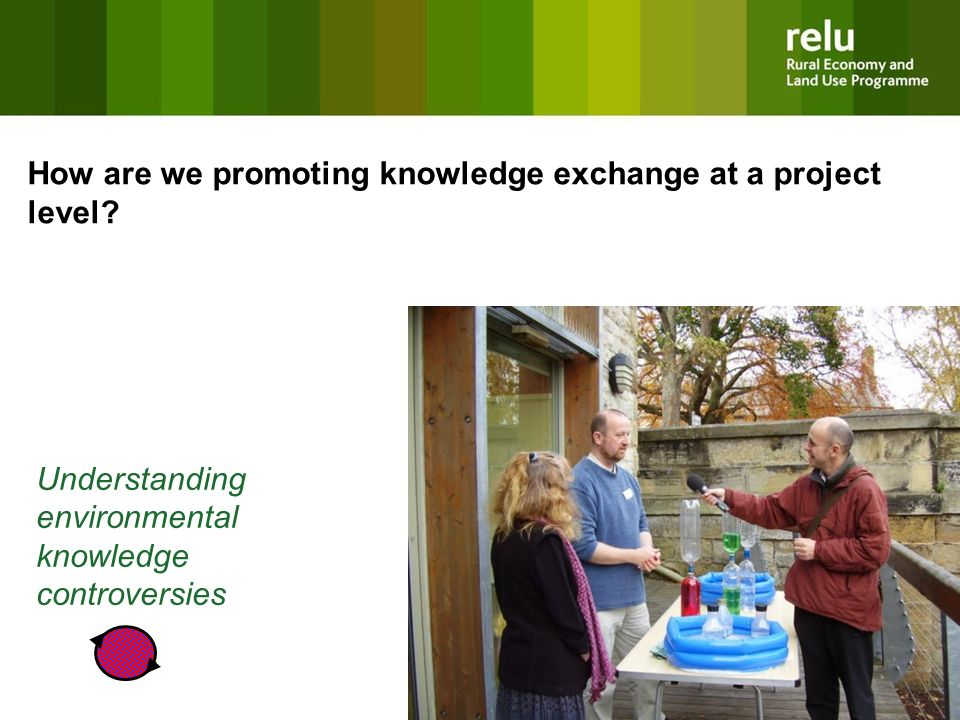 Understanding environmental knowledge controversies How are we promoting knowledge exchange at a project level