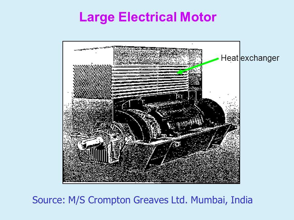 Large Electrical Motor Heat exchanger Source: M/S Crompton Greaves Ltd. Mumbai, India