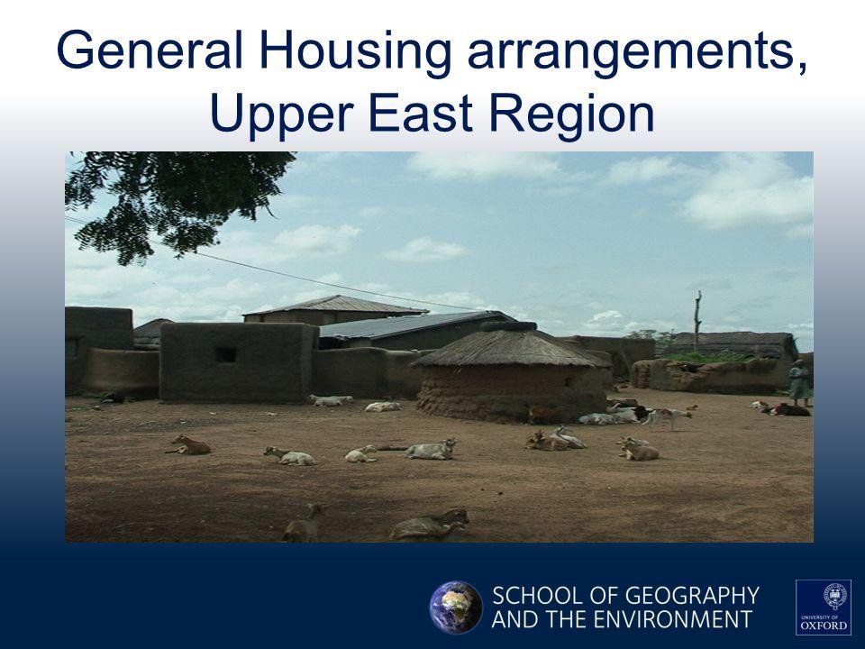 General Housing arrangements, Upper East Region