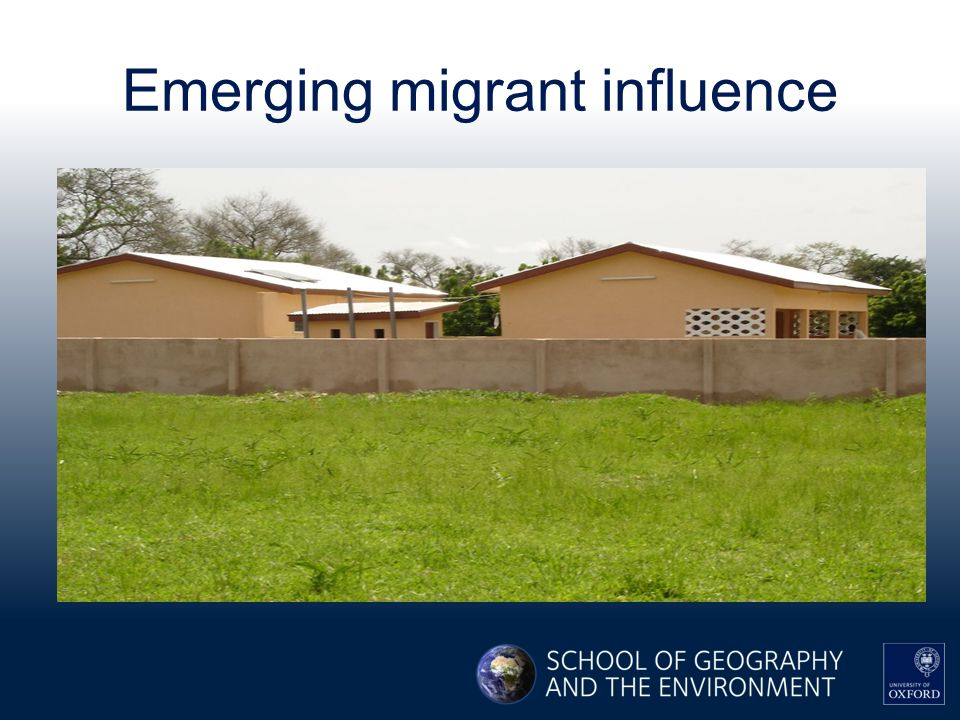 Emerging migrant influence