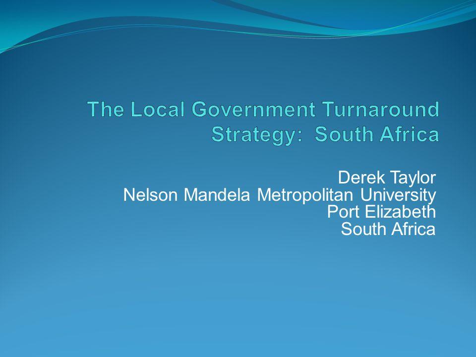 Derek Taylor Nelson Mandela Metropolitan University Port Elizabeth South Africa
