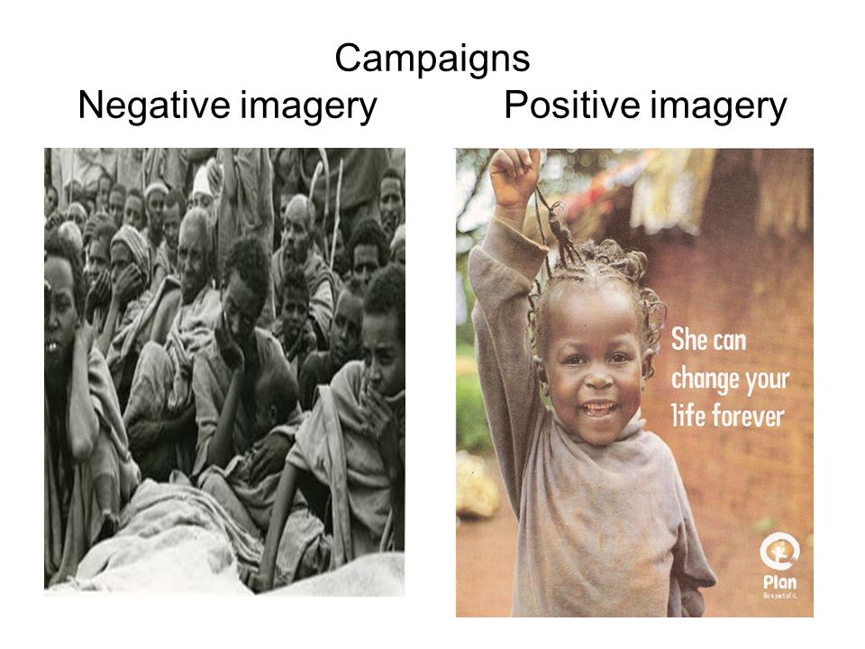 Campaigns Negative imagery Positive imagery