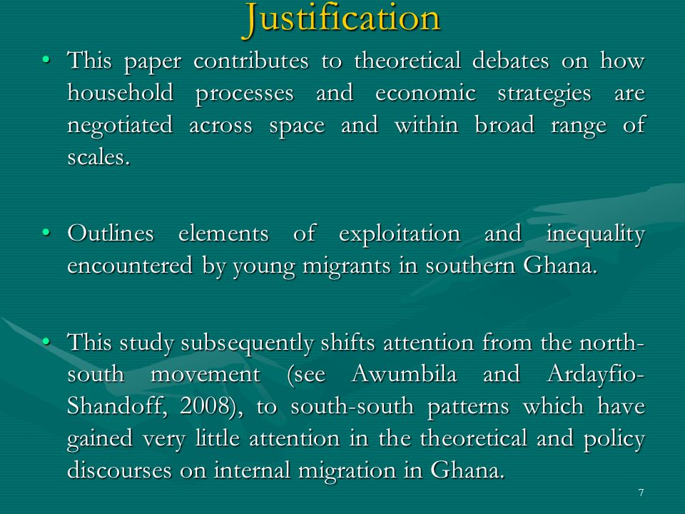 Conditions for Successful Migration
