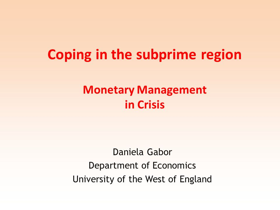 The messages of this paper Central bank key in the reconstitution of the Romanian economy as neoliberal economy.