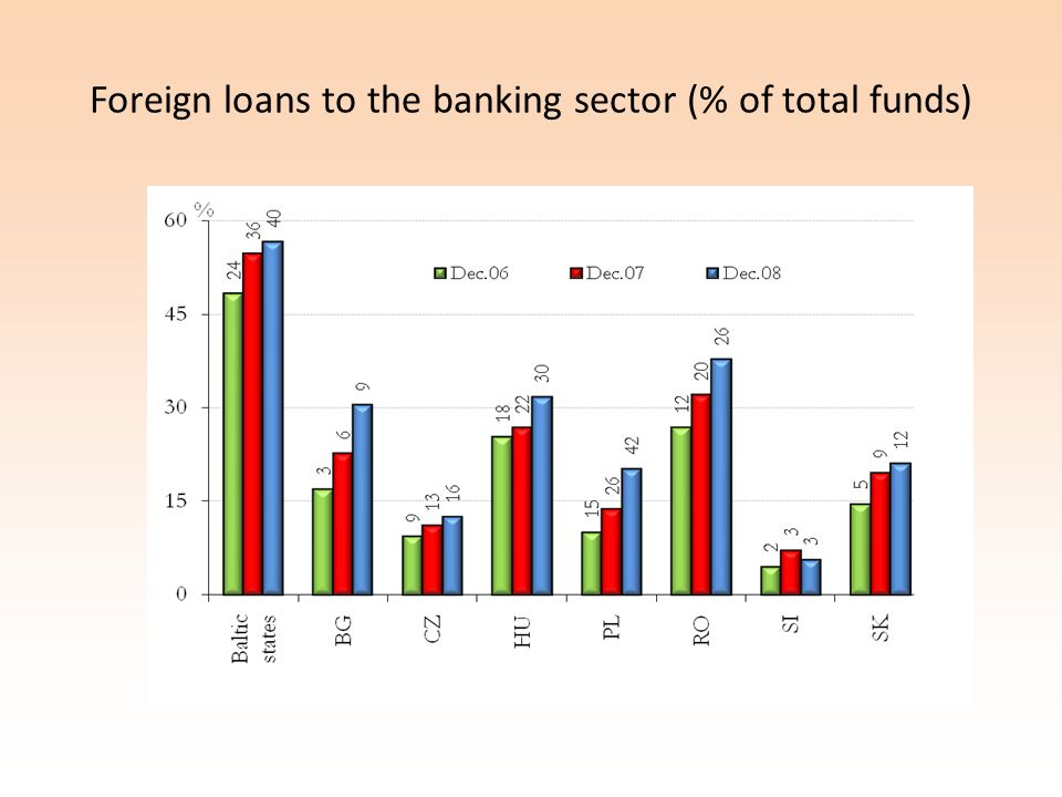 Foreign loans to the banking sector (% of total funds)