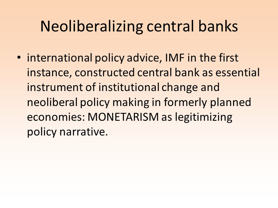Monetary management after the agreement : plus ca change -Neoliberal quantitative easing: a guide for keeping banks happy (and deepen a recession)