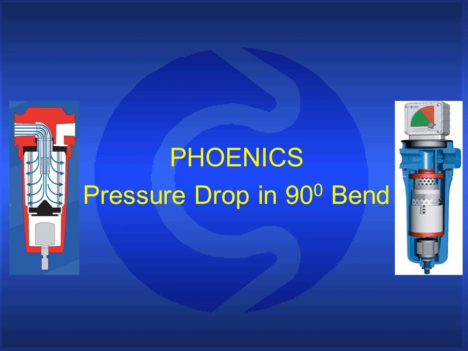 PHOENICS Pressure Drop in 90 0 Bend