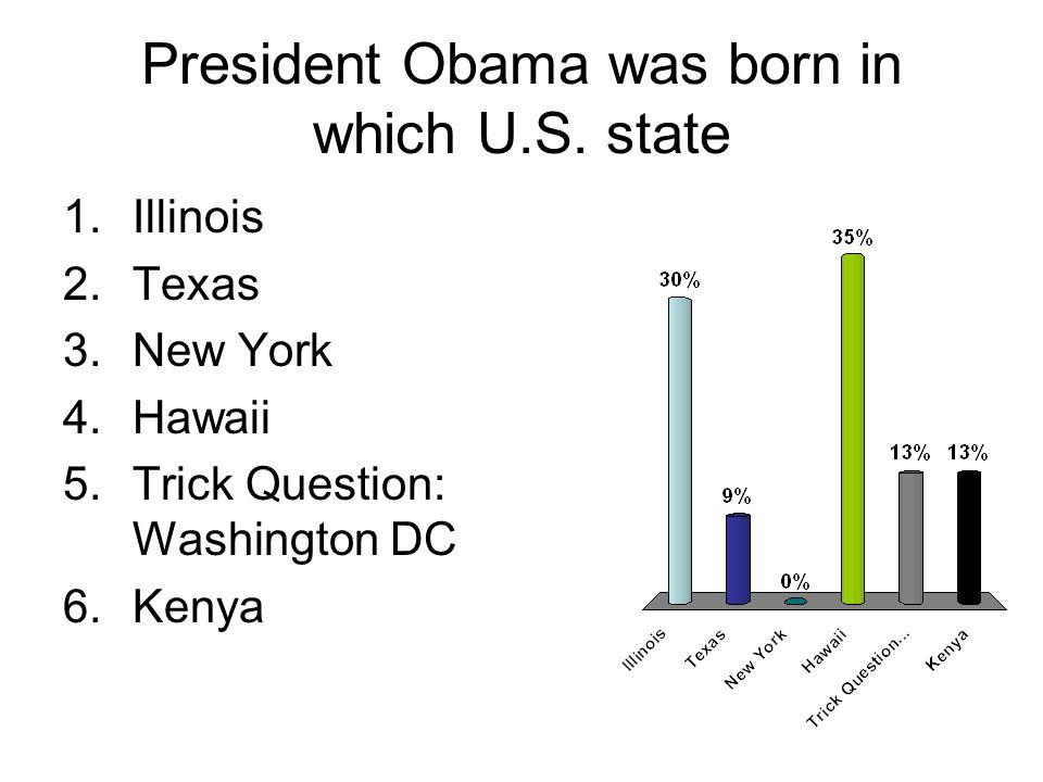 President Obama was born in which U.S.