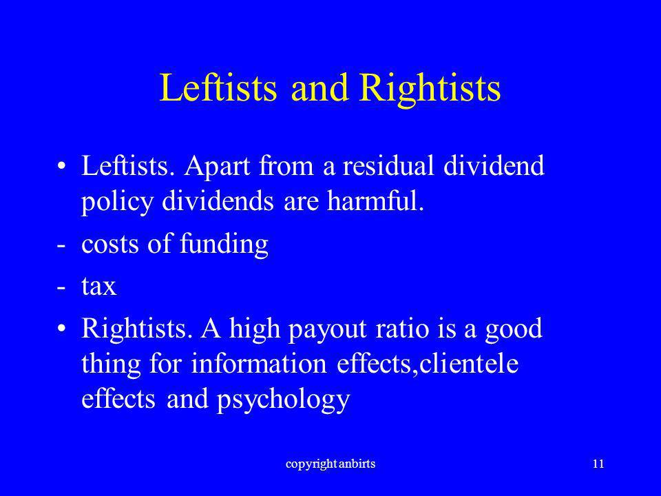 copyright anbirts11 Leftists and Rightists Leftists.