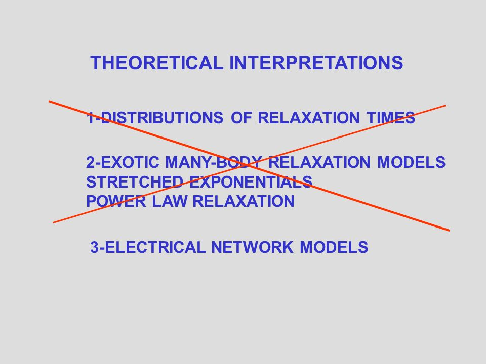 THE ANOMALOUS POWER LAW DISPERSIONS ARE NOT CAUSED BY UNCONVENTIONAL ATOMIC LEVEL RELAXATION EFFECTS THEY ARE MERELY THE AC ELECTRICAL CHARACTERISTICS OF THE ELECTRICAL NETWORKS FORMED IN SAMPLE MICROSTRUCTURE