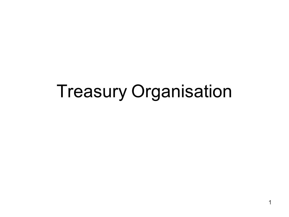 12 Treasury Organisation Collection Factory Same concept as Payment Factory applied to collections BUT May or may not give the same benefits Will depend on nature of the accounts receivable and location of accounts.