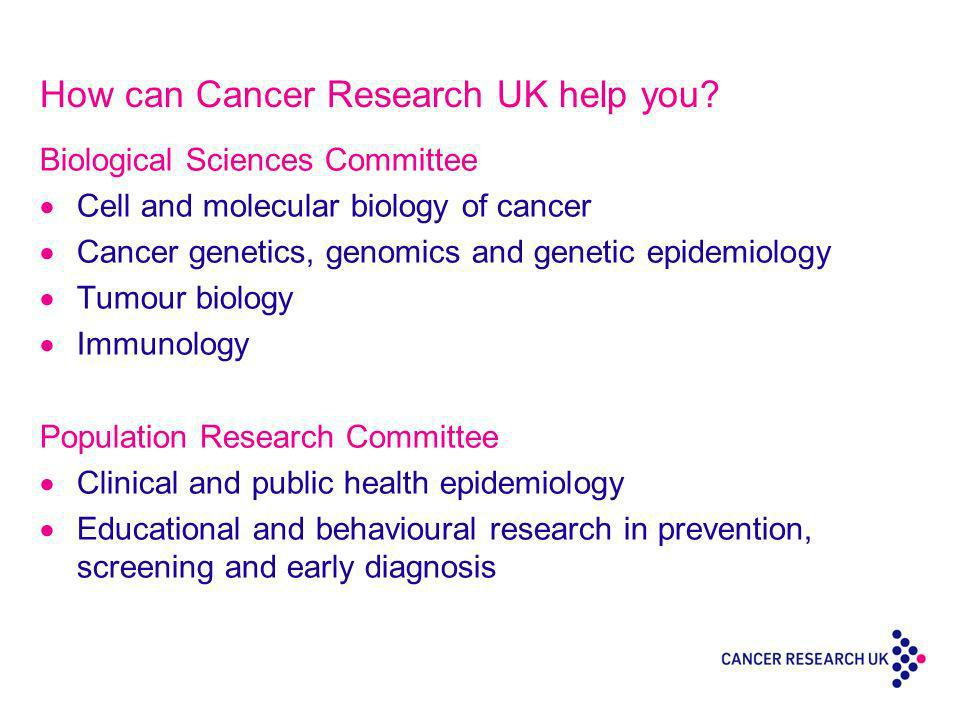 How can Cancer Research UK help you.