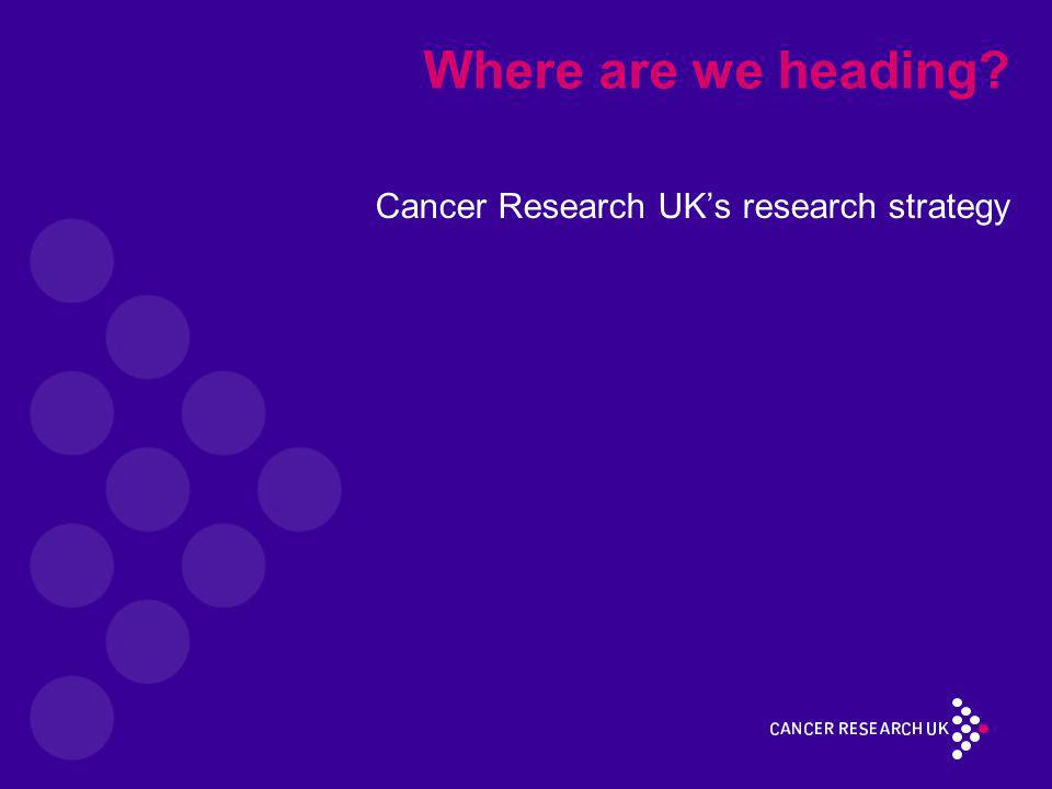 Where are we heading? Cancer Research UKs research strategy